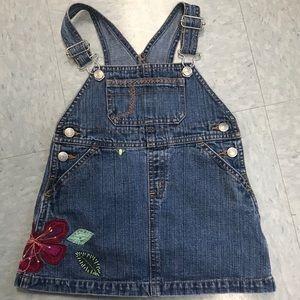 EUC 2T babyGAP Denim Overall Dress